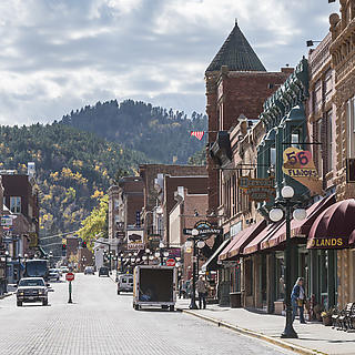 A portrait of a Black Hills main street