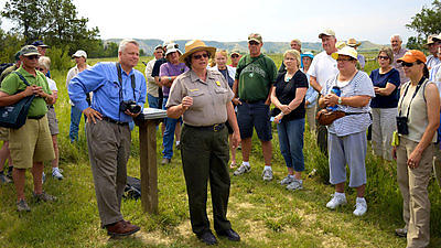 Park Superintendent Valerie Naylor speaks about the Elkhorn Ranch's significance.