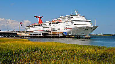 Several years ago, Charleston became a home port for Carnival Cruise Lines.