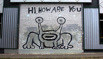 """""""Hi How Are You"""" mural in Austin, Texas"""