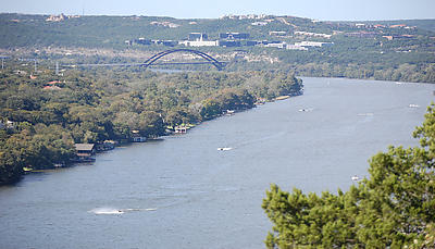 View of Lake Austin from Mt. Bonnell