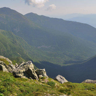 The Franconia Ridge Trail in the White Mountain National Forest.