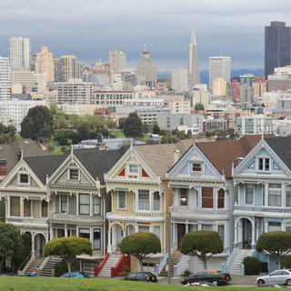 Row of Italianate Homes in San Francisco