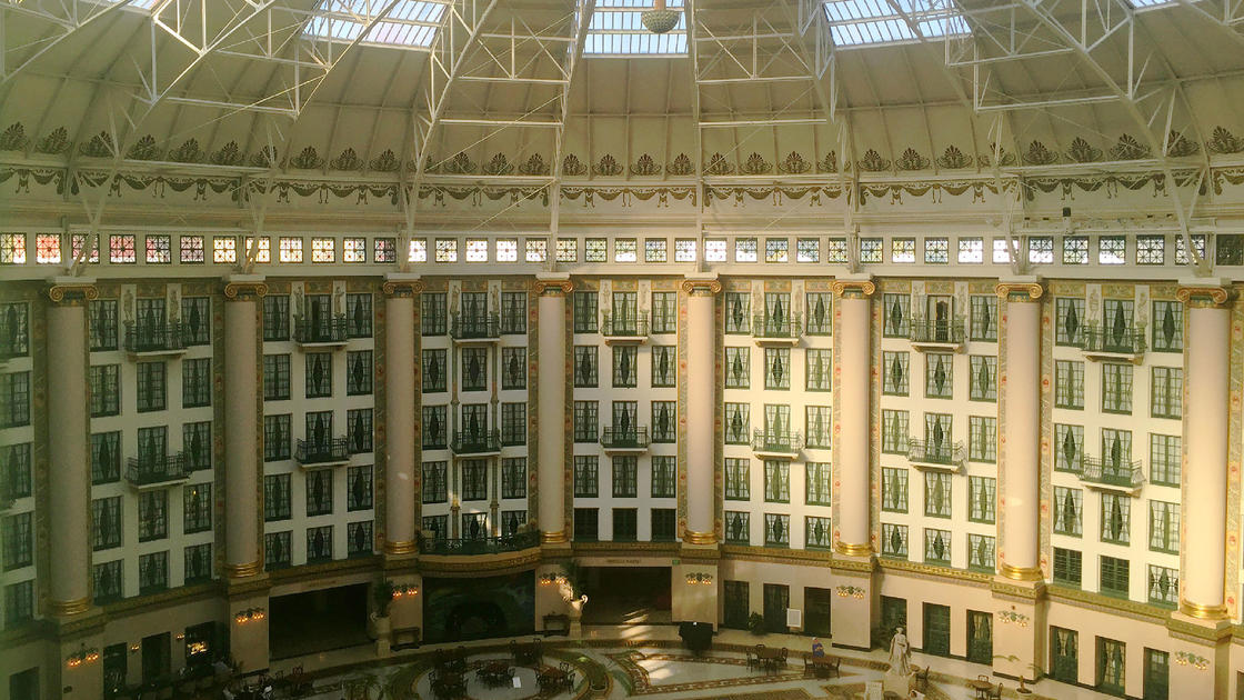 West Baden Springs Hotel >> On Top Of The Dome At The West Baden Springs Hotel National Trust