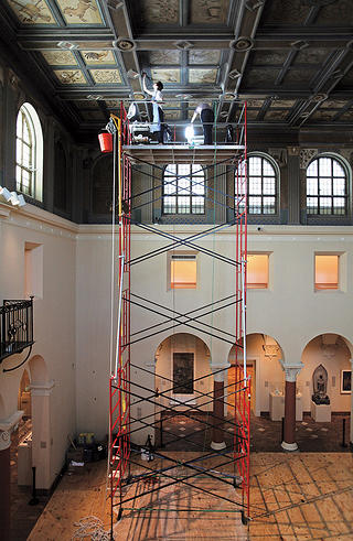 Oberlin College King Sculpture Court Ceiling Restoration