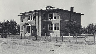 Abandoned St. Thomas School House. Photo taken May 13, 1934.