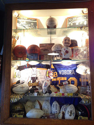 The Corner Club sports display
