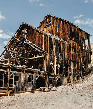 The 1912 Frisco-Bagley Mill, half a mile from Animas Forks, stabilized in 2013 by local residents.