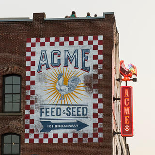 Sign at Acme Feed & Seed