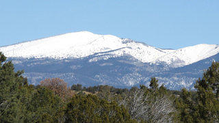 Mount Taylor has an elevation of nearly 12,000 feet.