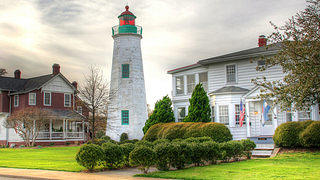 The Old Point Comfort Lighthouse on Fort Monroe.
