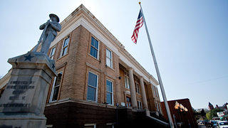 The Marion County Courthouse in Jefferson, Texas.