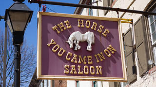 The Horse You Came In On Saloon sign