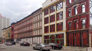 Preserved Whiskey Row facades.