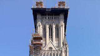 The 2011 earthquake damaged the central tower.