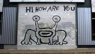 """Hi How Are You"" mural in Austin, Texas"