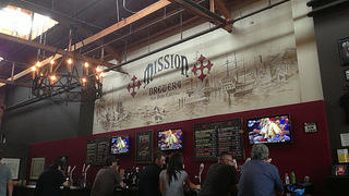 Mission Brewery interior bar