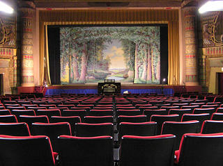 Interior of the Egyptian Theatre, Coos Bay, Oregon.