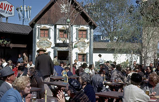 Bavarian beer maker Lowenbrau crafted a village square for visitors to enjoy.
