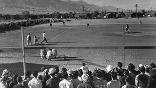 Manzanar Baseball Game
