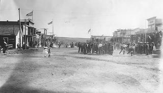Fourth of July celebrations on Main Street in 1880