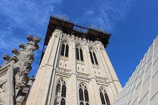 National Cathedral Repairs central tower scaffold 2015