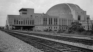 Historic image of Union Terminal, south flank looking north.