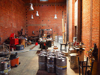 Mission Brewery workroom