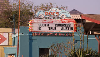 Sign in South Congress, Austin