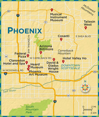 Area map of Phoenix