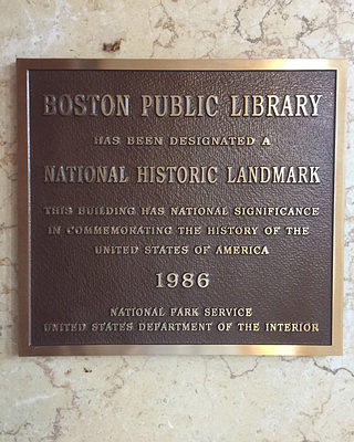 Boston Public Library Plaque