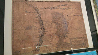 Map of Middle-Earth, on display in the Boston Public Library