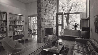 The house's living room in 1977
