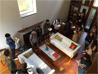 Architecture students in the Esherick House