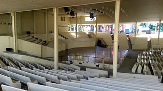 Interior view of the amphitheater.