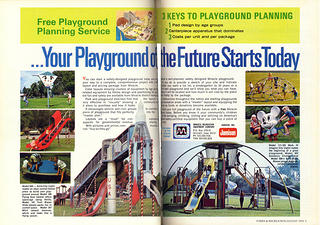 Novelty Playground equipment, 1975.