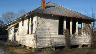 This abandoned Rosenwald School received grant money for restoration.