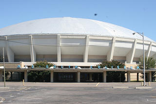 Exterior view of the Mid-South Coliseum