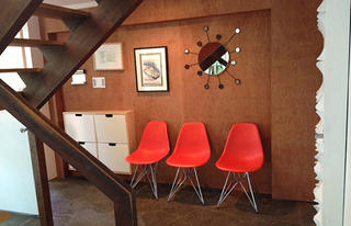 Mid-century Modern furniture and accessories inside Hollin Hills house