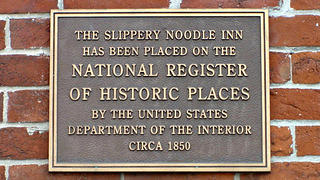 The Slippery Noodle Inn sign