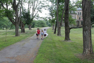 Walking the path at the Burnett/Garfield House