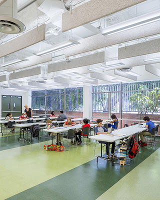 A classroom at the Larchmont Charter School