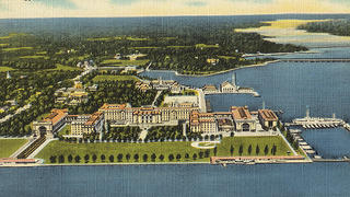 The campus of the U.S. Naval Academy