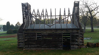 Reconstructed slave cabin at Montpelier