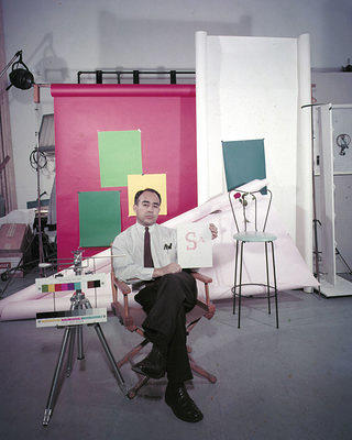 Pedro E. Guerrero self-portrait in a New York studio, 1950s