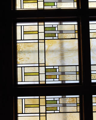 Stained glass at the Park Inn