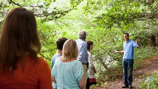 Visitors touring the 26 acres of gardens and grounds