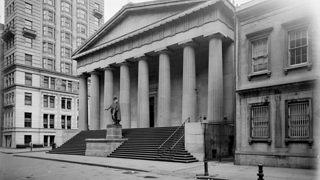 Federal Hall when operating as the US Sub-Treasury, 1900.
