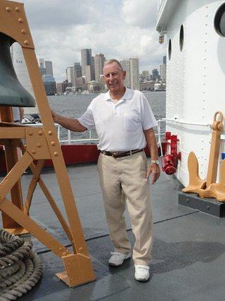 Richard (Dick) Arnold aboard the Nantucket Lightship/LV-112