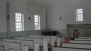 Interior of African Meeting House (Nantucket)